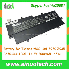 6 Cell Li-on Laptop Battery for Toshiba z830-10f Z930 Z935 PA5013U-1BRS Laptop Replacement Battery 14.8V 3060mAH 47WH
