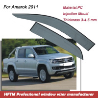Injection mold type PC material mini pickup truck wind deflector for Amarok 2011