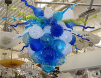 Mini and Cheap Colored Glass Balls Chandelier Tiffany Style Blown Glass Chandelier in Dubai