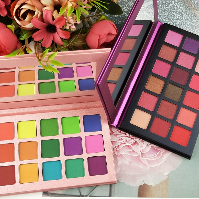 custom colors 18color Cosmetics make your own brand best eyeshadows,latest <strong>eye</strong> shadows with mirror