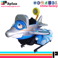 New product dolphin aircraft coin operated amusement kiddie ride swing game machine