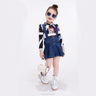 Latest Children Clothes Fashion Casual Frock Designs Small Girl Denim Dress