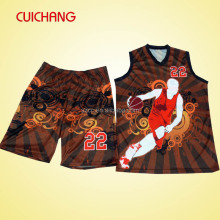 2016 digital print fashion sublimation basketball jersey uniform