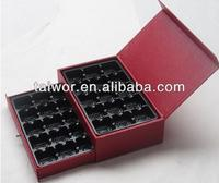 luxurious 2 layer 30 pieces chocolate packaging printing box, paper storage gift boxes
