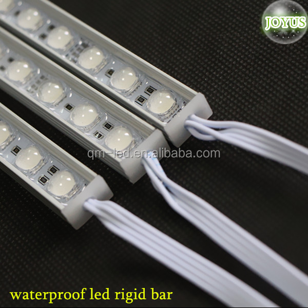 waterproof 60 degree lens 5050 smd aluminum rigid rgb led strip light