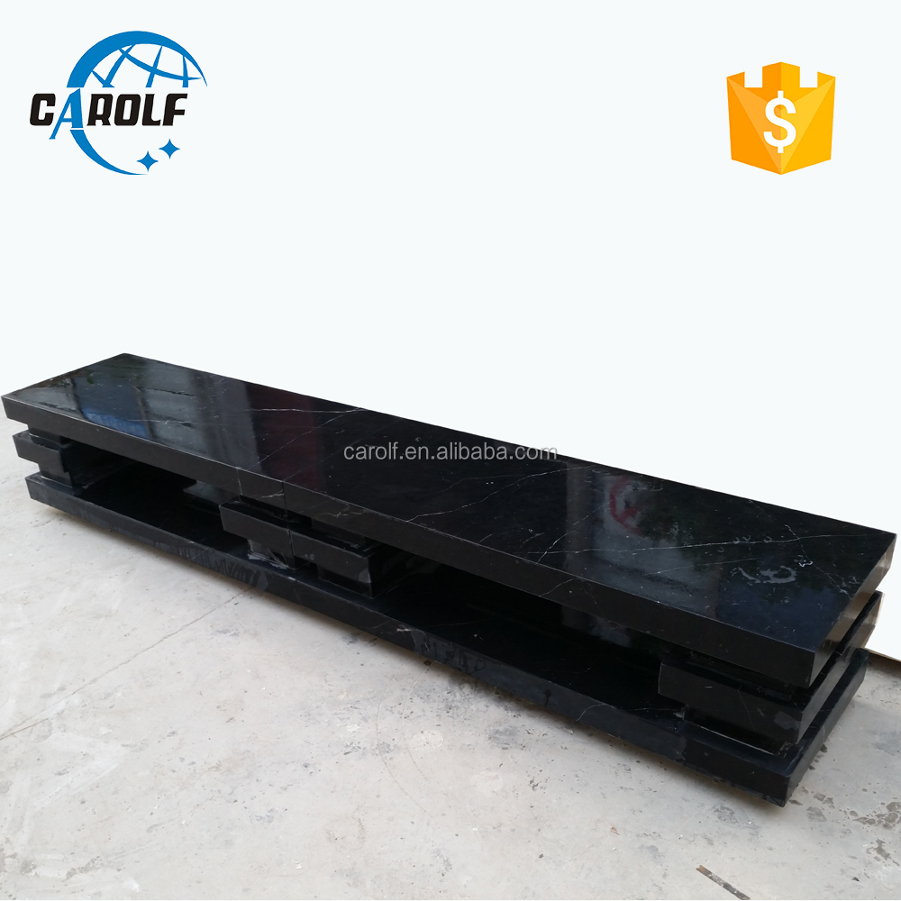 Made in China Simple Design Black Marble TV Stand Unit
