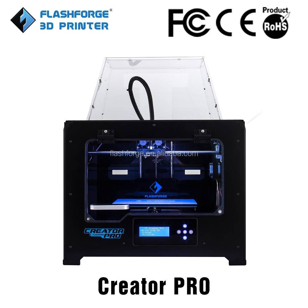 3d metal printer for sale factory price 2016 hot sale Flashforge 3d printer