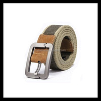 quality assurance cheap fashion cotton canvas belt for boys with metal buckle