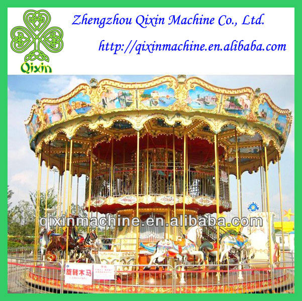 China Professional manufacture kids rocking horse Merry go round carousel for sale