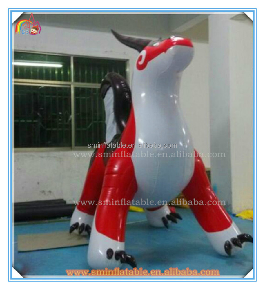 Promotional pvc inflatable flying dragon model for advertising decoration