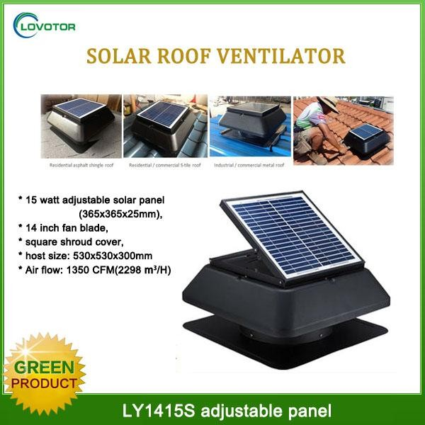 1750CFM Solar ventilation fans Sale to usa solar ventilator with CE axial flow fans