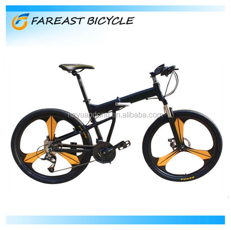 26-inch disc brake aluminum alloy frame folding mountain bike