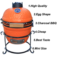 Outdoor Kitchen Appliance Smoke Free Charcoal BBQ Barbecue Grill