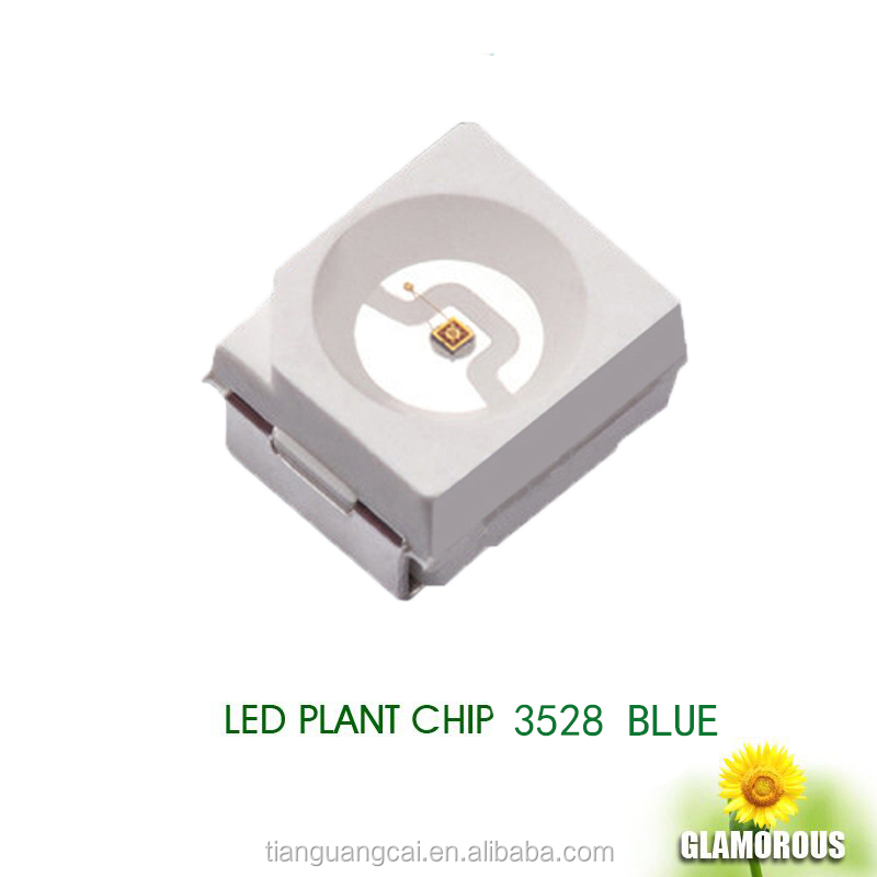 Alibaba China Newest cheap price 0.6w 3528 smd plant blue 450nm led Wholesale
