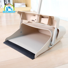 2016 BOOMJOY 040-1/J wind-proof 180 swivel PP plastic broom and dustpan set with aluminum pole