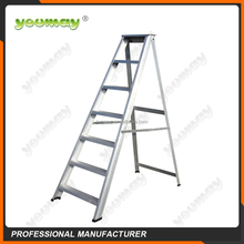 EN131Aluminum step ladder folding ladder house hold AD0807A/building construction car wash equipment