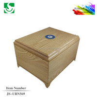 JS-URN569 wholesale memorial solid wood ashes urn