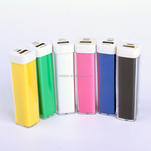 manufacture of power bank 2013 best selling,gift lipstick portable power bank charger 2600mah mackup mobile power bank charger
