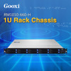 "1U Server 10 bays Chassis Gooxi 19"" hot-swap micro-atx SGCC depth 660mm RM1010-660-H 1u rackmount server case chassis"