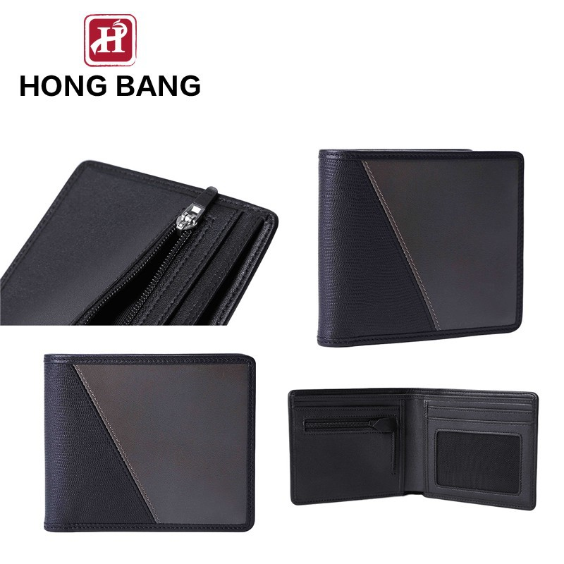 fashion genuine leather men wallet with coin purse
