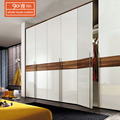 Professional custom simple mdf wardrobe designs cabinet closet wood