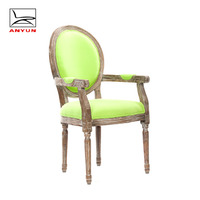 Fashion Design Fabric Cheap Dining Wooden Chair With Oval Back
