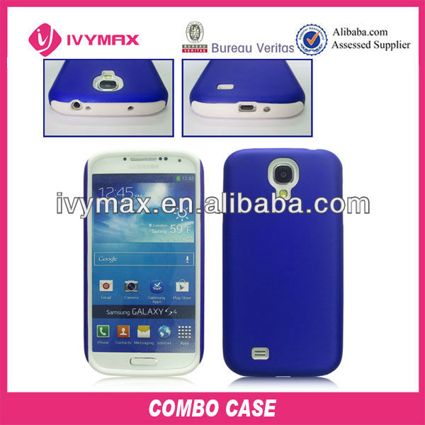 PC+silicone hybrid combo case for Samsung Galaxy S4 i9500