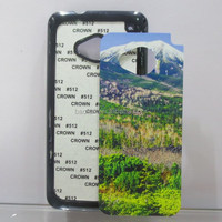 2d Sublimation Phone Case for HTC M7 Hard PC with Aluminum Insert 2D Sublimation hard PC phone case for HTC one M7