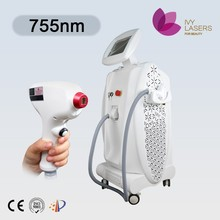 Tiny hair removal 755nm laser melanin absorption painless treatment laser hair removal machine
