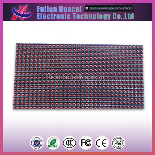 Outdoor P10 Single Color Red Led Module P10 Sales Led Light Display Advertisement Street Sign Outdoor P10 Single Color
