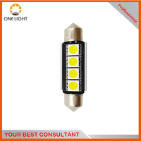 Onelight excellen Heat sink Super Bright 41mm 4SMD 5050 SMD Interior Festoon car LEDs Dome Light Bulb Reading Lights for cars