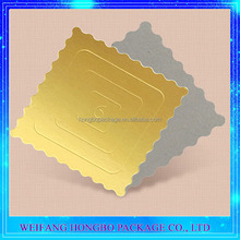 Gold 2mm Straight Cutting Pure Paper Cake Circle For Cake Base