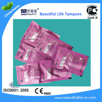 Beautiful life tampons with CE, Gost R cert tampon brands soft tampons