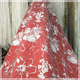 Hot sale wedding veil dress evening gowns guipure 3d flower lace bridal fabric