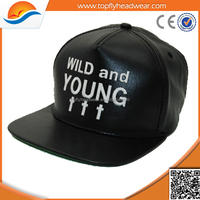 PU leather snapback hip hop caps/sports snapback cap/fashion PU leather snapback flatbill adjust baseball hats hip pop caps