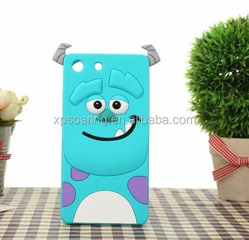 New Designed Cartoon silicone case for Sony Xperia M5 Sulley/ tiger