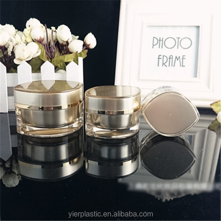 customize high end 30g 50g round empty acrylic cosmestic cream lotion moisturizer face milk packing jar with screw cap