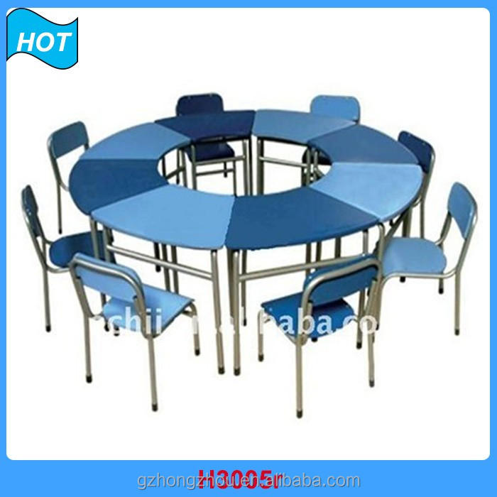 New Arrival plastic baby study table and chair