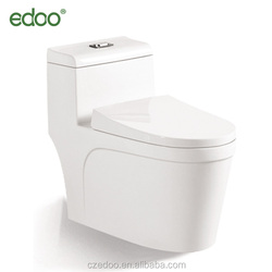 Gold supplier EDOO New-design elegant siphonic one piece toilet sanitary ware