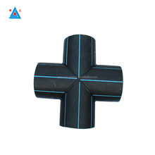 HDPE pipe fitting cross