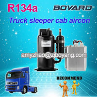 r134a dc 24v compressor for truck cabin dc 12/24/48/72 brushless motor aircon