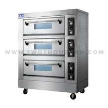 TT-O159 3 Decks Commercial Stainless Steel Electric Bakery Oven