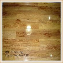 red 8mm brazilian walnut 12x12 pvc cheap laminate flooring 3-strip HLS-008 125*29MM CE,ISOcertificate SGS report