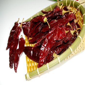 sweet dry red paprika pods
