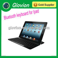 HOT sale Aluminum case with bluetooth keyboard bluetooth wireless keyboard slim keyboard for Ipad 2
