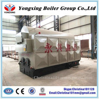 Hand burn horizontal DZH series coal fired high pressure steam boiler for food industry