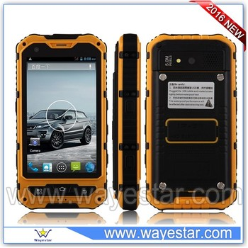 Top Sell 4 inch 1GB/8GB Rugged Android Phone 3G WCDMA850/1900/2100 Waterproof IP68 with NFC