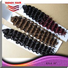 Quality heat resistant synthetic two tone braiding hair