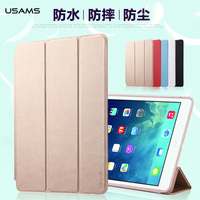 Case for ipad Air 2, for iPad Air 2 USAMS Three folding Leather Case with wake up/sleeping function