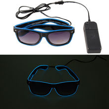 2015 best sale LED EL Wire neon glasses for Christmas Party